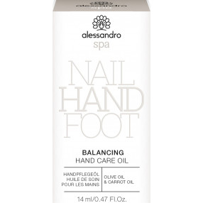alessandro spa Balancing Hand Care Oil 14ml Tester